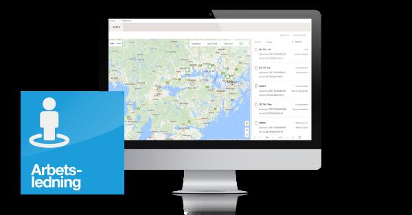 Arbetsledning - Funktionsmodul - Karta över dina resurser, via dator eller mobil