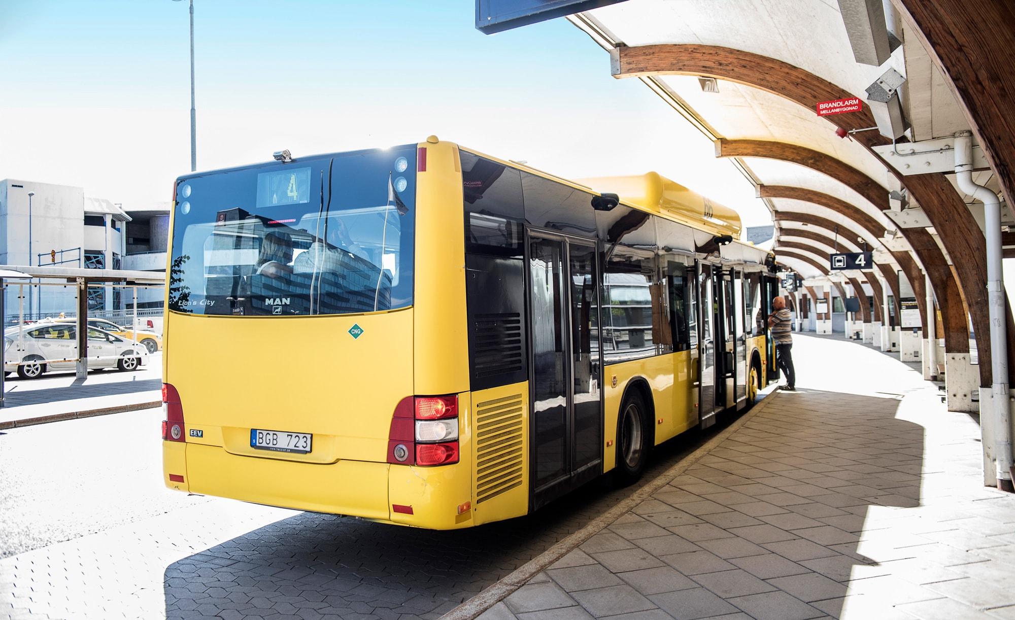 Buss hos Swedavia