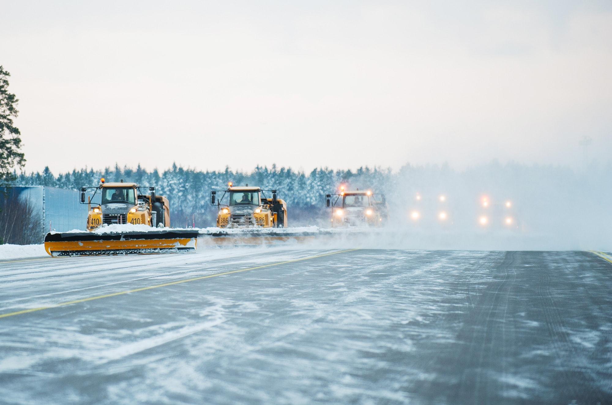 Snöröjning med Swedavia